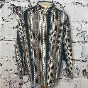 Vintage men's Guess by Marciano Aztec shirt L